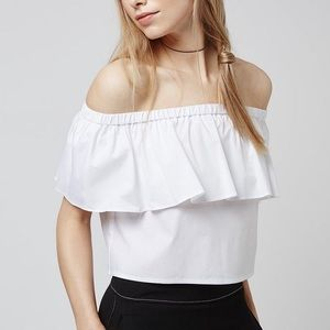 Topshop white off shoulder top